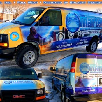 Martel Inc Delaware vehicle wrap graphics