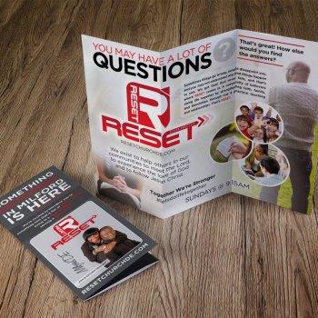 Reset Church Trifold Brochures