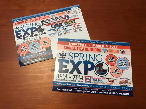 Middletown Area Chamber of Commerce MACCD Spring Expo Postcards