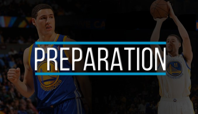 klay thompson shooting form preparation