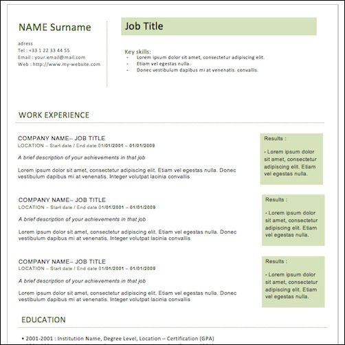 35+ Best CV and Résumé Templates