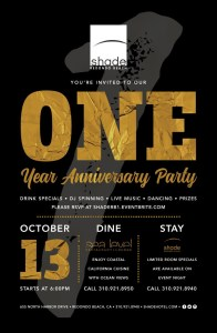 Shade Hotel Redondo Beach's Milestone One Year Anniversary Party! @ Shade Hotel | Redondo Beach | California | United States