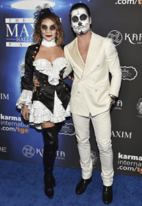 dwts couple val chmerkovskiy and jenna johnson were inseparable at the 2017 maxim halloween party photo credit getty images