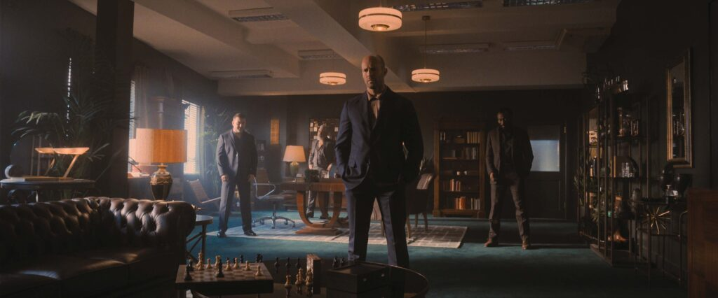 Cameron Jack as Brendan, Darrell D'Silva as Mike, Jason Statham as H, and Babs Olusanmokun as Moggy in director Guy Ritchie's WRATH OF MAN, A Metro Goldwyn Mayer Pictures film.