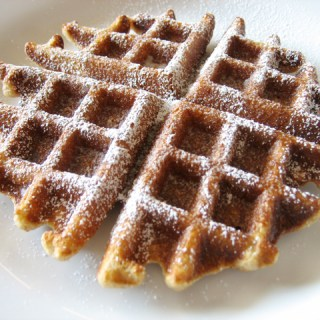 Waffles: I like 'em pipying hoot from the gleede.