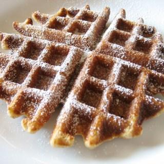 Waffles: I like 'em pipying hoot from the gleede.