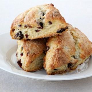 And the baking returns! Cranberry orange scones