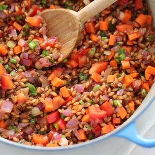 Food for a fairy tale: Wheatberry salad