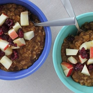 We will be morning people: Cinnamon pumpkin oatmeal