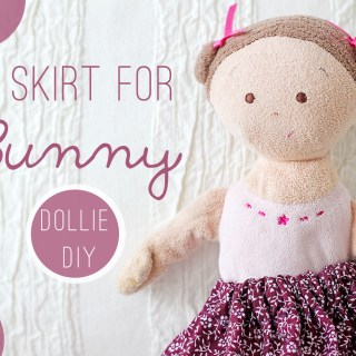 Doll skirt DIY and a note to younger me