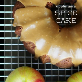 For the Pinteresty time of year: Applesauce spice cake