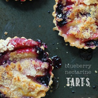 Tarts are for dreamers: Blueberry nectarine tarts