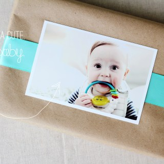 Wrapping Week 2014: Vintage-inspired photo tags