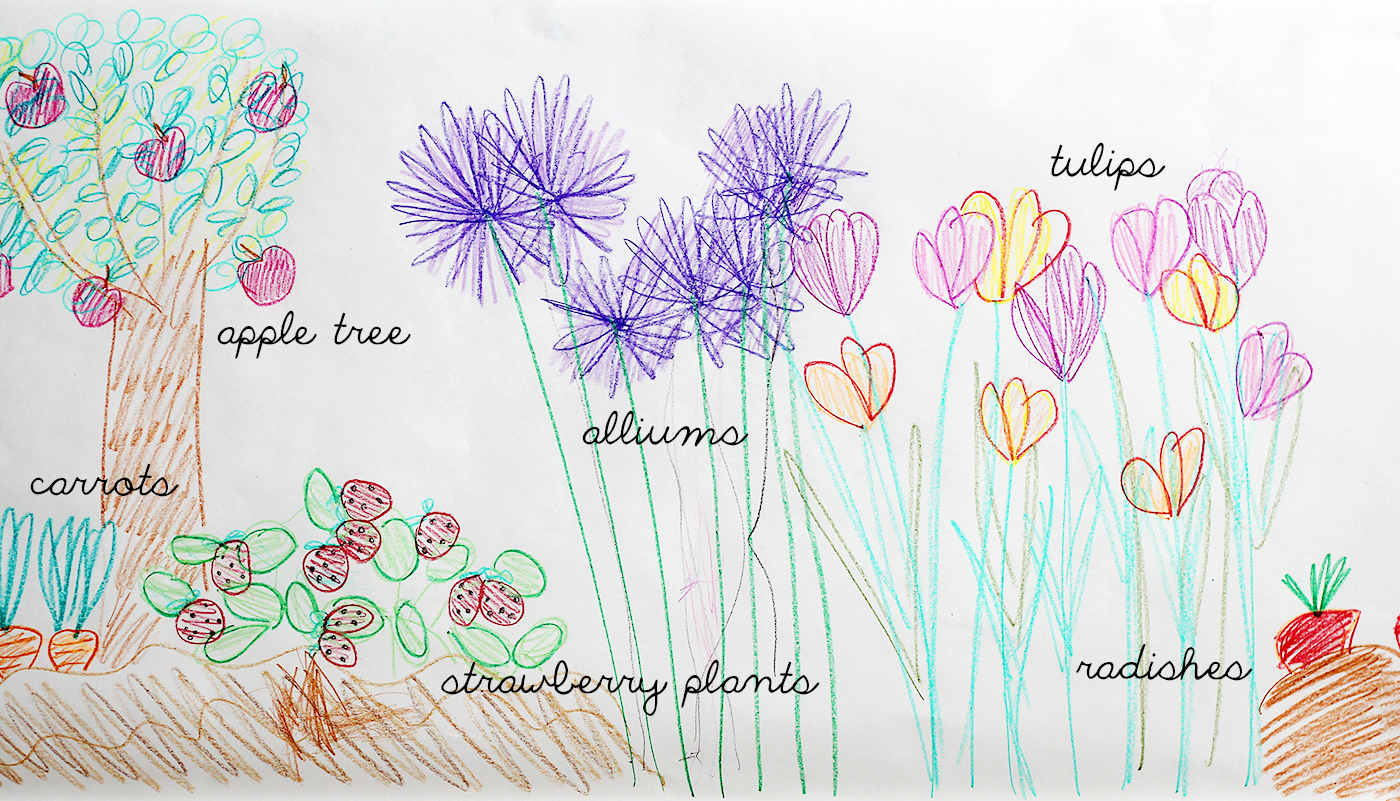 Colorful Indoor Garden Craft for Kids drawing