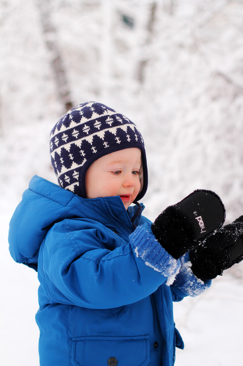 winter snow boy