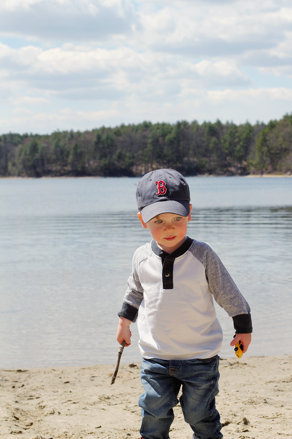 Boy Walden Pond