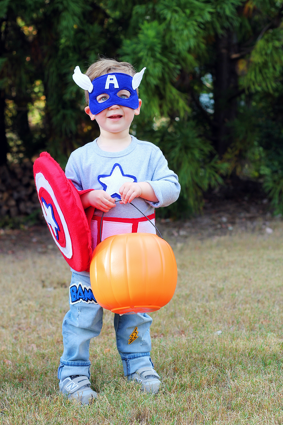 Captain America Toddler Costume DIY