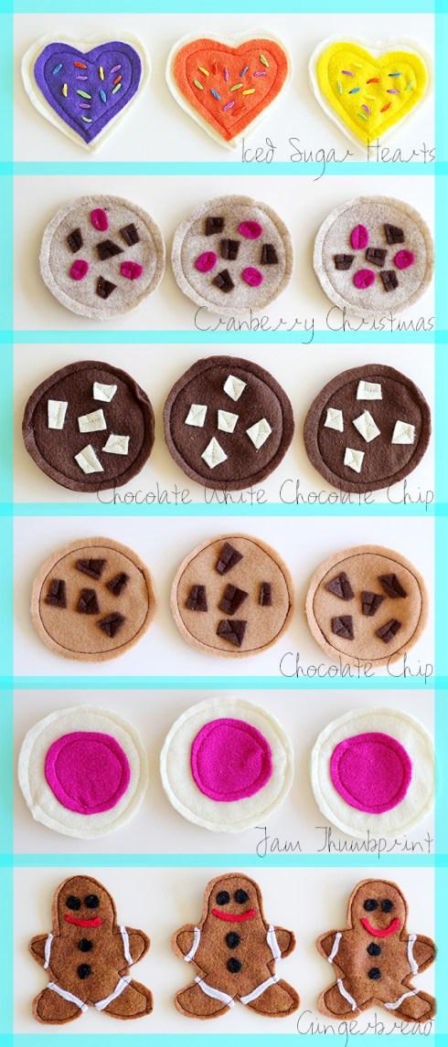 Felt Cookies-all