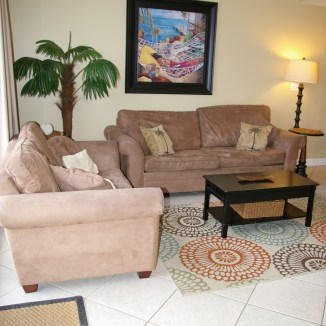Living Room - queen sized sleeper sofa, love seat and recliner