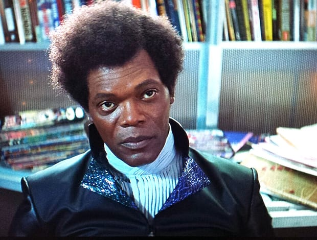 Samuel L. Jackson Photographed On The Set Of GLASS