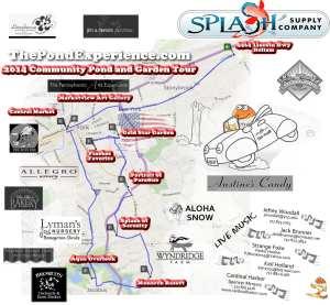 2014 pond tour map