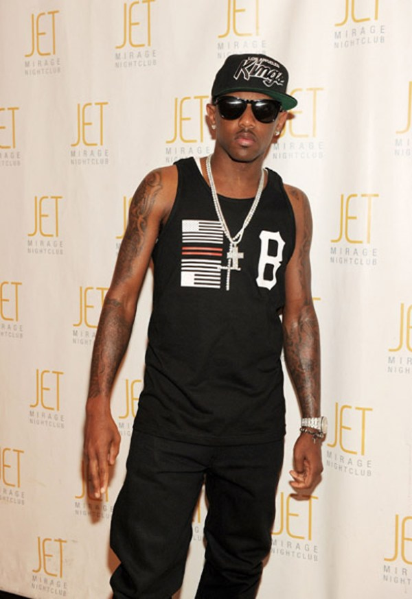 Fabolous Wearing Black Scale Mega Flag x B Logo Tank Top