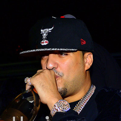 French Montana Iced Out Rose Gold Rolex Datejust 2 Watch Splash  Splashy Splash