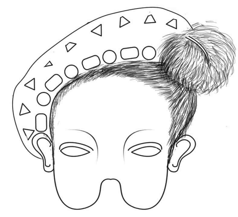 Masks to print and colour