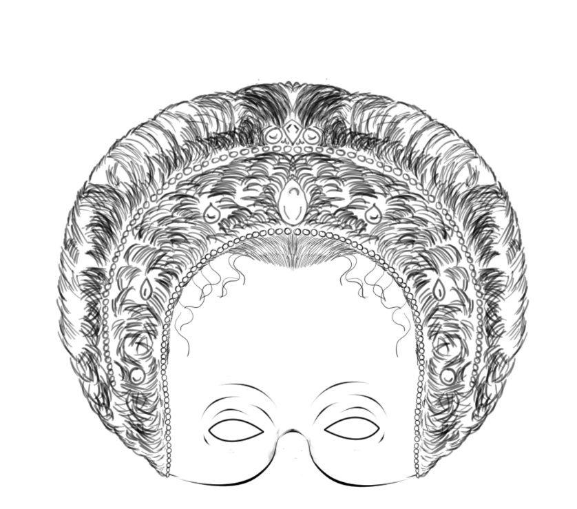Tudor History mask Elizabeth I