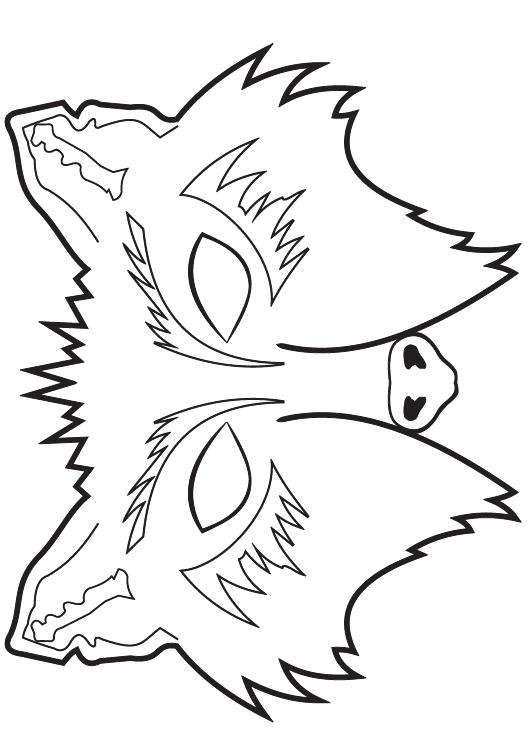 Jungle book wolf mask