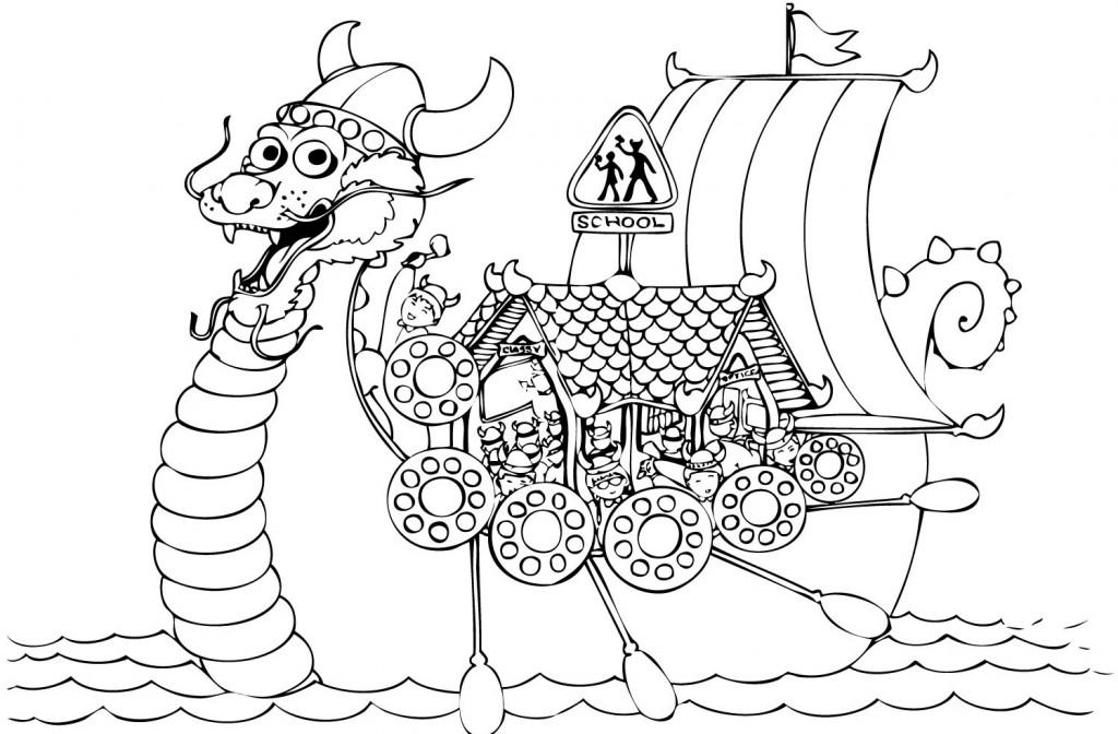 Viking School to colour
