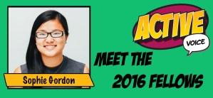 2016 Active Voice Fellow Sophie Gordon