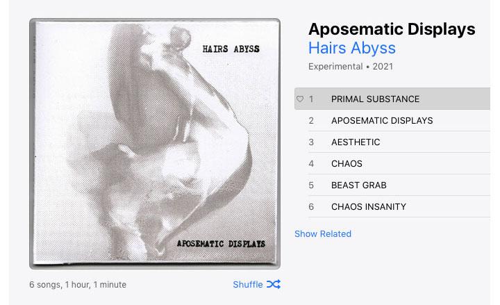 Hairs Abyss - Aposematic Displays digital