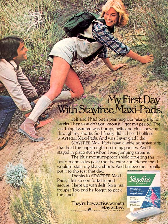 The 1970s - A step forward for female hygiene in advertising