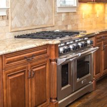 Contemporary Cabinetry and Range Accents