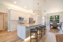 Kitchen Island Toekick Lighting and Up Lights