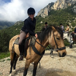 Horsing around The Alps, St. Agnès, France….