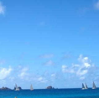 Les plages de Saint Barthélemy….
