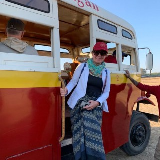 Up, up and away over Myanmar….