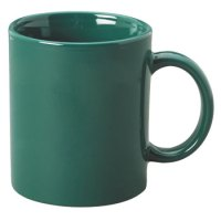 11 oz c-handle coffee mug - green [10311] : Splendids ...