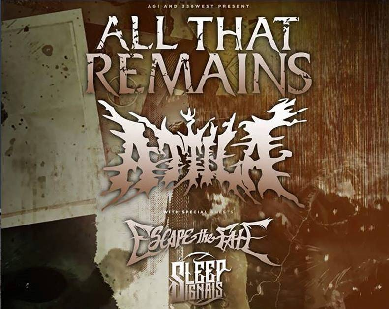 Sleep Signals and Atilla rock out with Escape the Fate and All That Remains at The Hard Rock Live