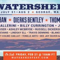 Ninth-Annual Watershed Music and Camping Festival Delivers Superstar Lineup