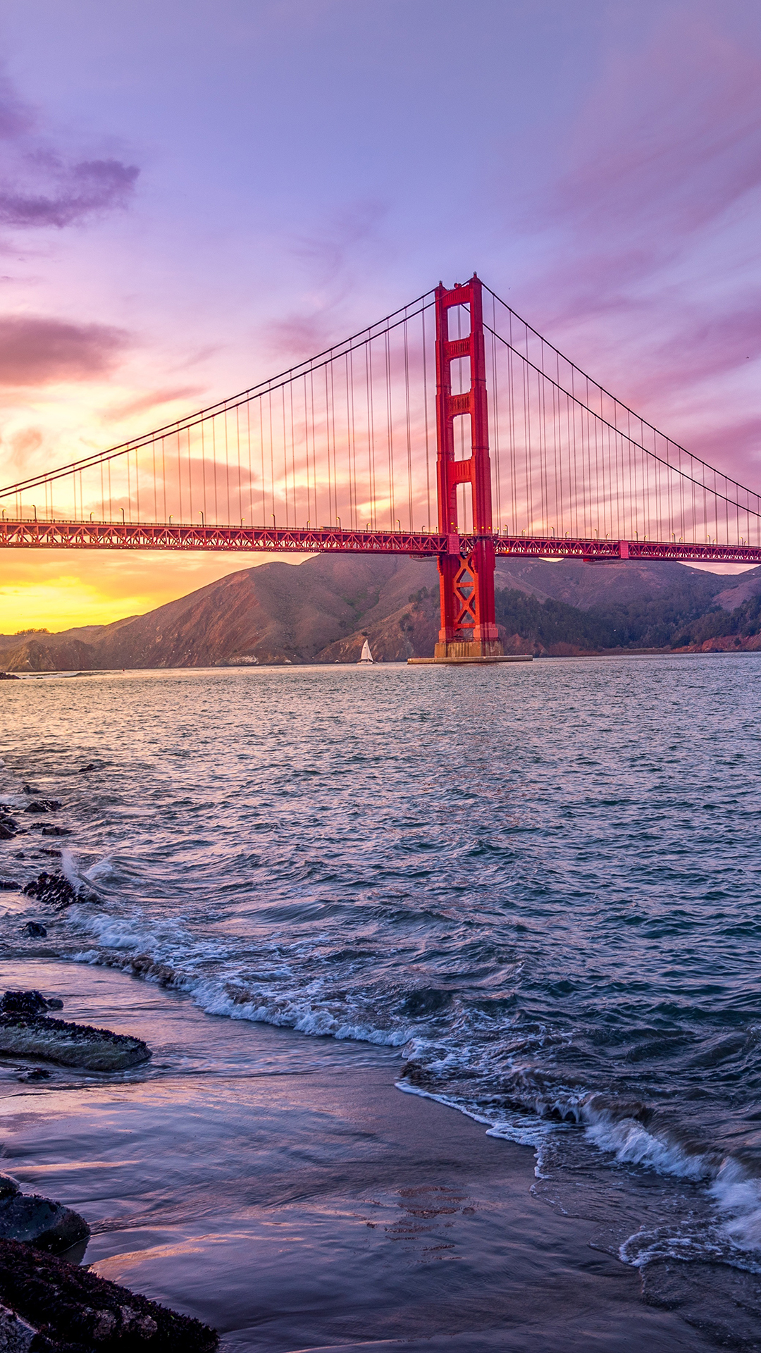 Dimensions Of A Wallpaper For Iphone X Golden Gate Hd Wallpaper For Your Mobile Phone