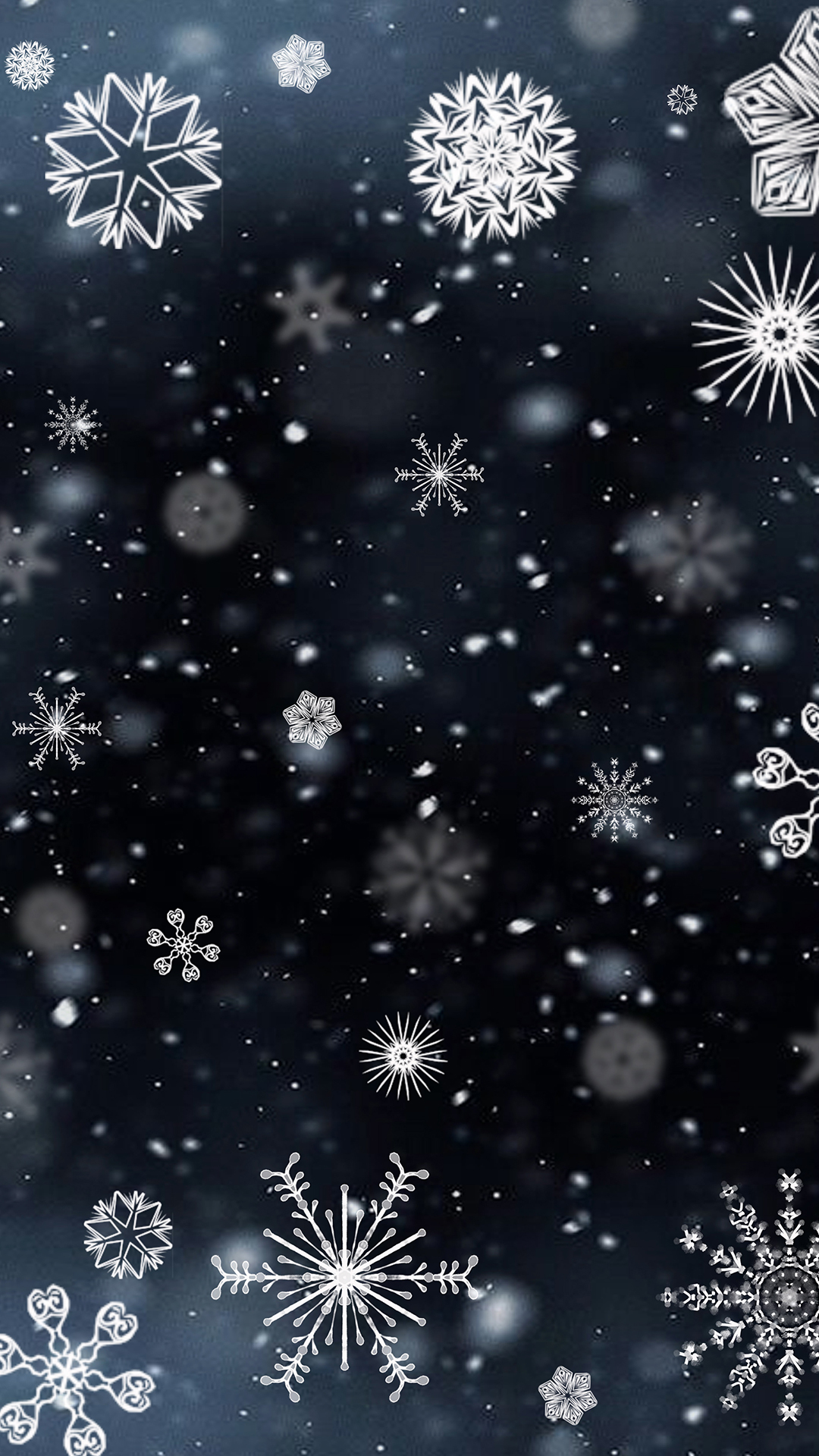 Falling Snow Wallpaper Iphone 5 Snowflakes Hd Wallpaper For Your Mobile Phone