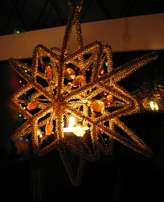 Star, flame and reflected lights