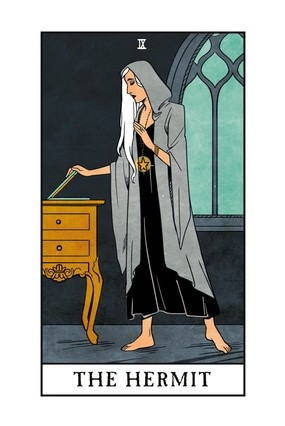 The Hermit from the Modern Witch Tarot by Lisa Sterle.