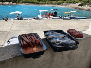 Fresh-food-before-grilling-Split-Sea-Tours-DeLuxe-Blue-cave-Tour-from-Split