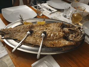 Grillled-fish-lunch-2-Split-Sea-Tours-DeLuxe-Blue-cave-Tour-from-Split