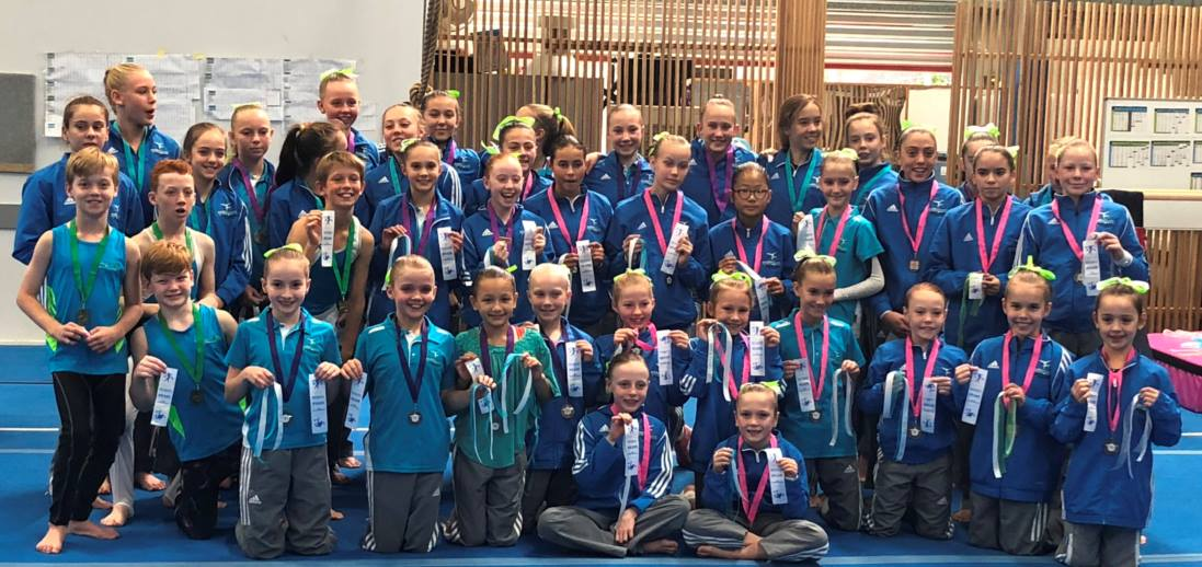 Splitz Gym Gymnastics WAG and MAG Winners of their levels competitions