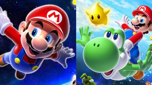 Super Mario Galaxy and Super Mario Galaxy 2 box art